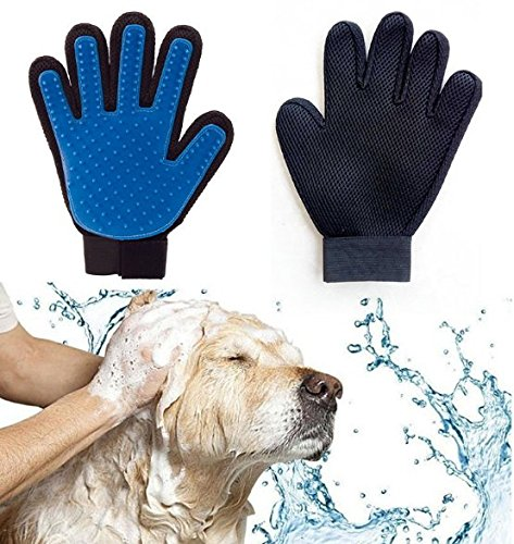 Pet Grooming Glove for Dog, Shedding Gloves Brush, Dog Bathing Glove Cat Petting Glove Gentle and Efficient Hair Groomer, Pet Grooming Mitt De-shedding Massaging Tool Dog/Cat/Horse Combs (Right Hand) CS11079