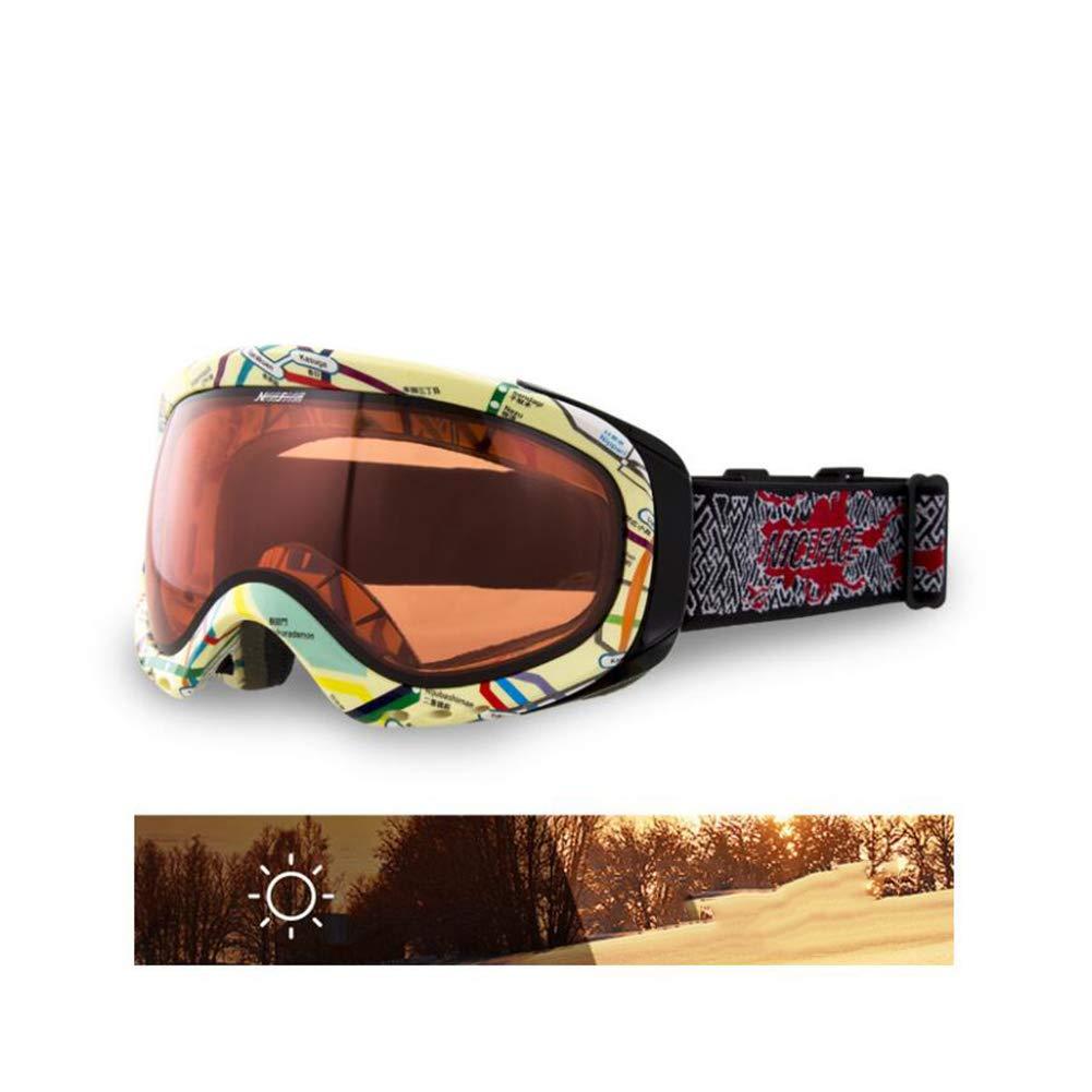He-yanjing Ski Goggles,UV Protection,Ski Snowboarding Goggles Over Glasses Ski/Snowboard Goggles for Men, Women & Youth (Color : C) by He-yanjing