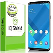 Galaxy S8 Screen Protector, IQ Shield® LiQuidSkin Full Coverage Screen Protector for Galaxy S8 (2-Pack, Case Friendly Updated Version) HD Clear Anti-Bubble Film