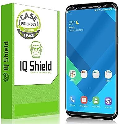 Galaxy S8 Screen Protector, IQ Shield® LiQuidSkin Full Coverage Screen Protector for Galaxy S8 (2-Pack, Case Friendly Updated Version) HD Clear Anti-Bubble Film