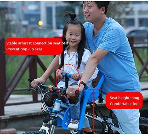 YXZN Sillas de Bicicletas para niños en Bicicleta Asiento Delantero para Bicicleta de montaña Asiento de bebé Completamente Cerrado para,Red,50X33CM: Amazon.es: Deportes y aire libre