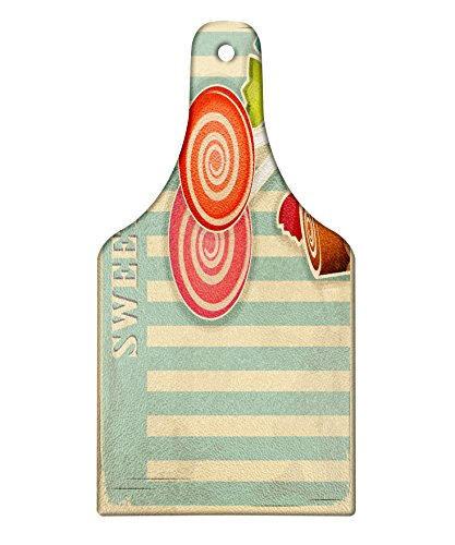 Lunarable Vintage Cutting Board, Retro Old Candy Store Choco
