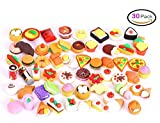 30 PCs Joanna Reid Collectible Set of Adorable Puzzle Kitchen Food Cake Dessert Erasers Value Pack - No Duplicates - Puzzle Toys Best for Party Favors,Classroom Rewards
