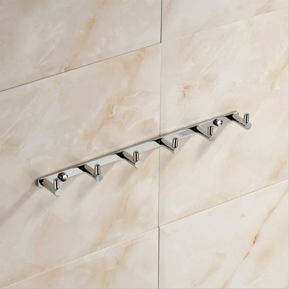 ZHH Gancho Percha Europea Colgante de baño baño baño Simple Gancho de Dormitorio Colgante de Hardware Cobre Gancho de Fila de Toalla de Seis Ganchos f5ffa3