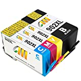 CMCMCM 902 XL Remanufactured 902XL Ink Cartridges Replacements Work For OfficeJet Pro 6968 6968 6970 6975 6978 6979 OfficeJet 6950 6954 6975 6979 Printer