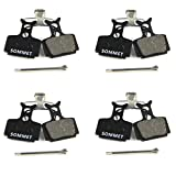 SOMMET 4 pairs Resin and Semi-Metallic Disc Brake Pads fit for FORMULA MEGA THE ONE R1 RX RO C1 T1 ZSP09-4