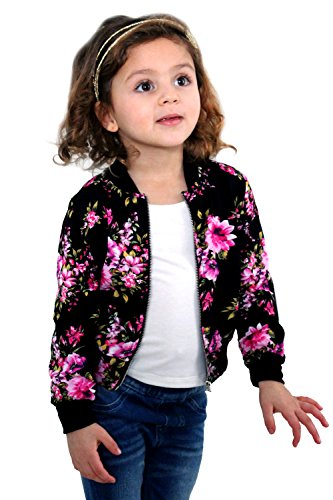 Little Girls Floral Bomber Jackets product image