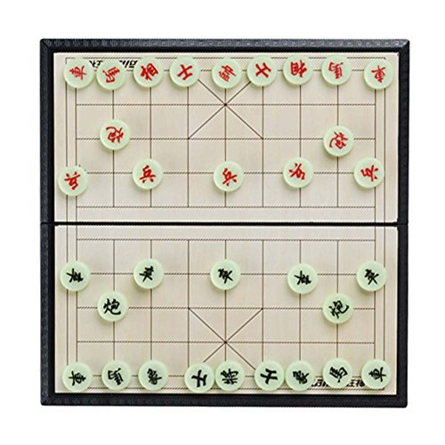e Xiangqi Chinese Chess Set Magnetic Foldable Board Game Chess Game Family Educational Game (Ancient Chinese Chess)
