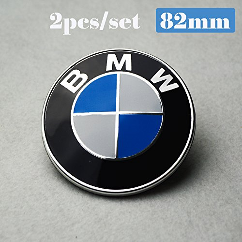 bmw emblem 82mm black - 9