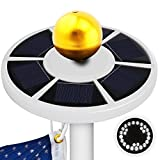 Solar Flag Pole Light, KOSIN [2017] 26 LED Waterproof Brightest, Most Powerful, Longest Lasting Flagpole Light Auto On/ Off for Outdoor, Camping, Tent (White)