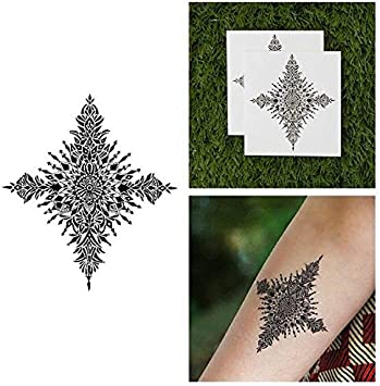 Tatuaje Temporal Tattify - Mandala Copo de Nieve - Reina de Hielo ...