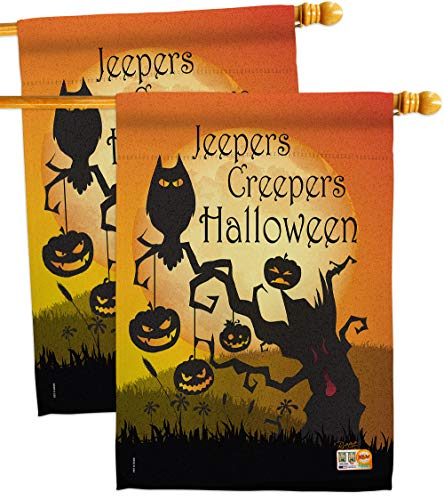 Breeze Decor HP112008-BOAE Jeepers Creepers Fall Halloween Impressions Decorative Vertical 28