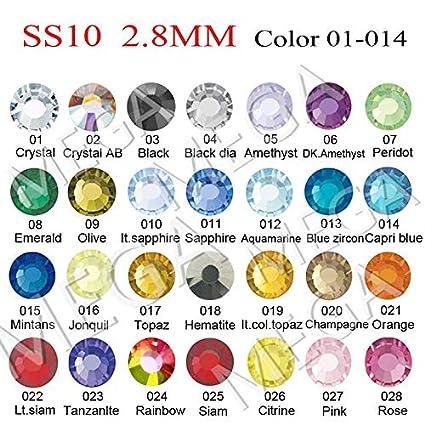 ad52ab294a New SS10 (2.7-2.9MM) Strass Crystal ab DMC Hot Fix Flatback ...