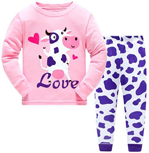 Pajama for Girls,100% Cotto Long Sleeve Pajama Set (18-24month, pink for girls) - Long Girls Pajamas