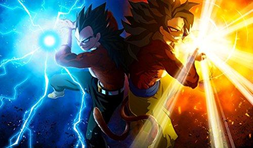 Dragonball GT Super Saiyan 4 Goku and Vegeta TCG playmat, gamemat 24