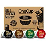 San Francisco Bay 31101 One-Cup Single Serve Coffee Variety Pack, 80-Count