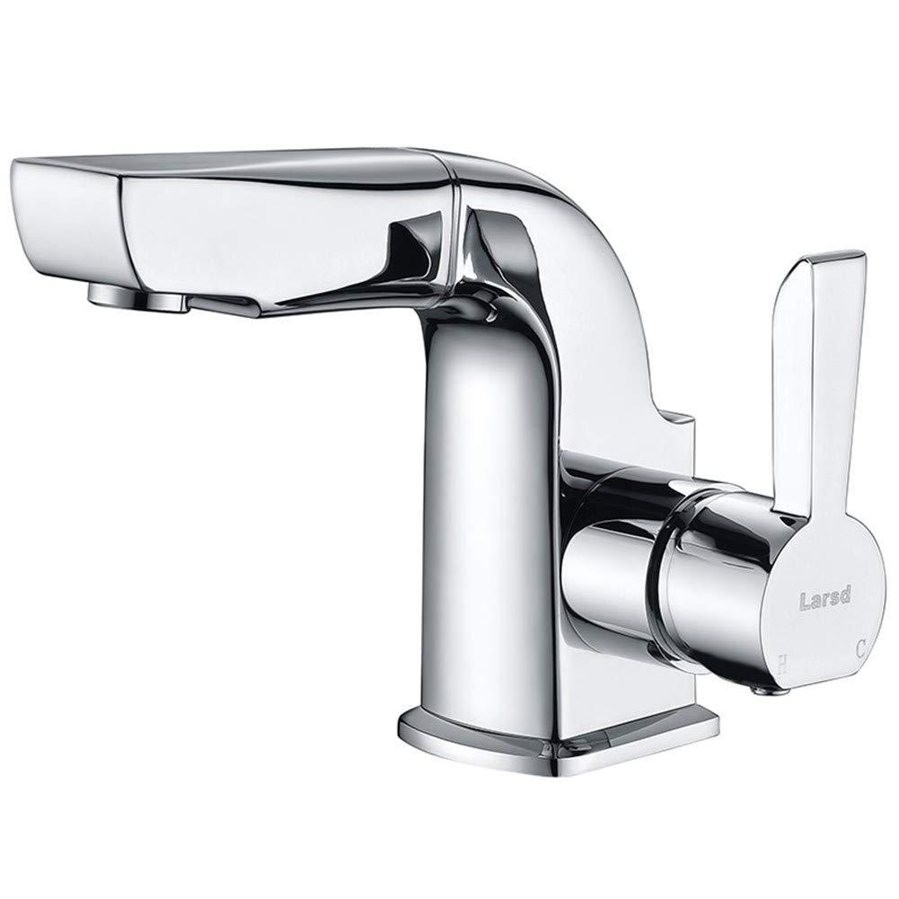Copper Pull Basin Mixer Chongxlgy-1 Basin Faucet Copper Hot and Cold Water Wash Basin Faucet Wash Basin Faucet, Copper Hot and Cold Basin Faucet