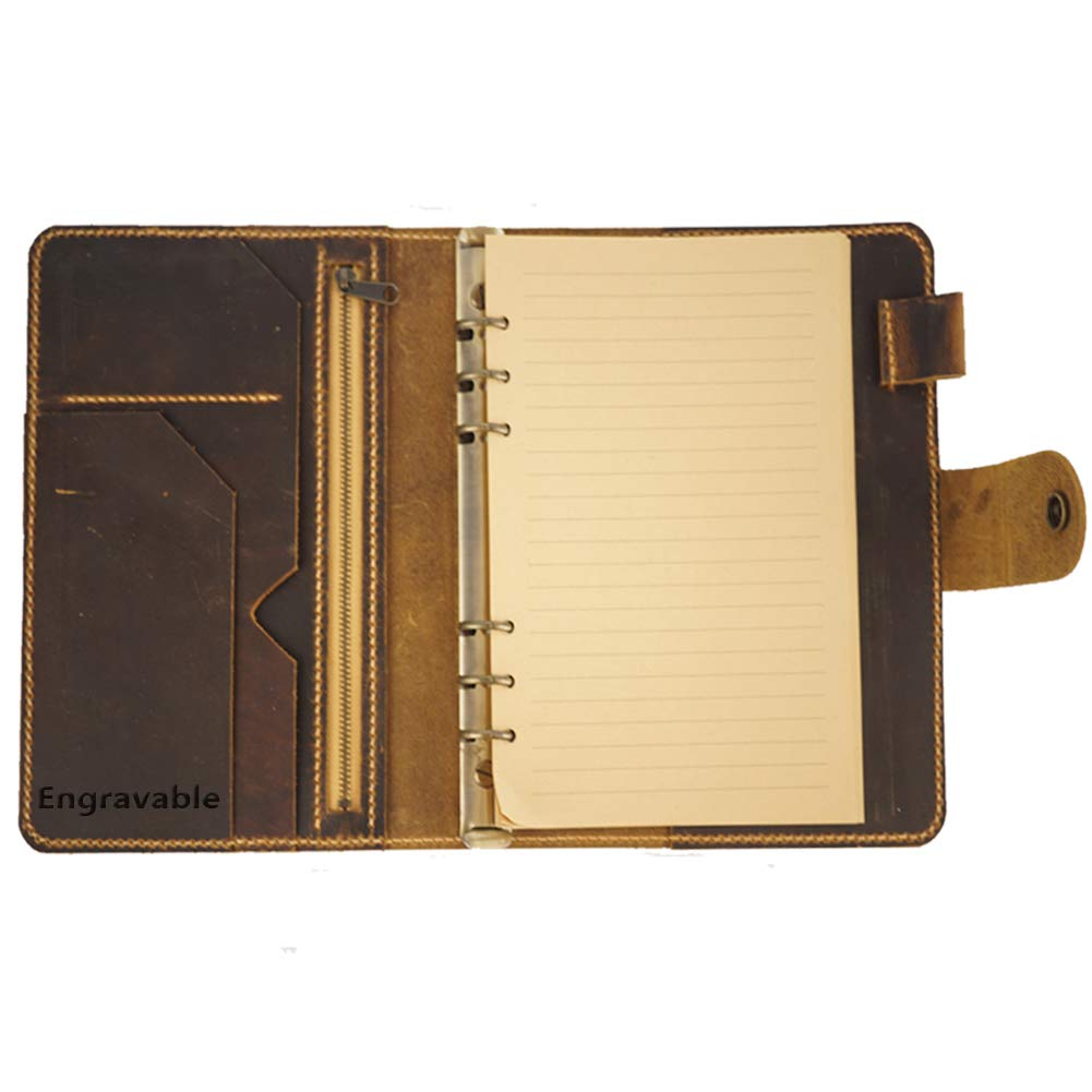 Amazon.com : Leather Organizer Agenda Vintage Binder Diary ...