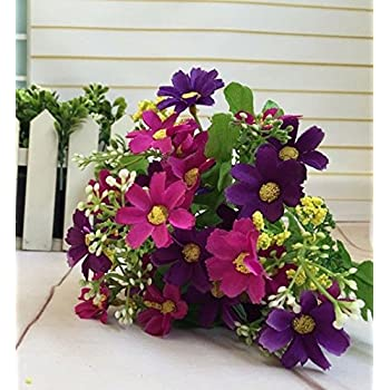 Dark purple color silk flowers artificial silk for Decorate with flowers amazon