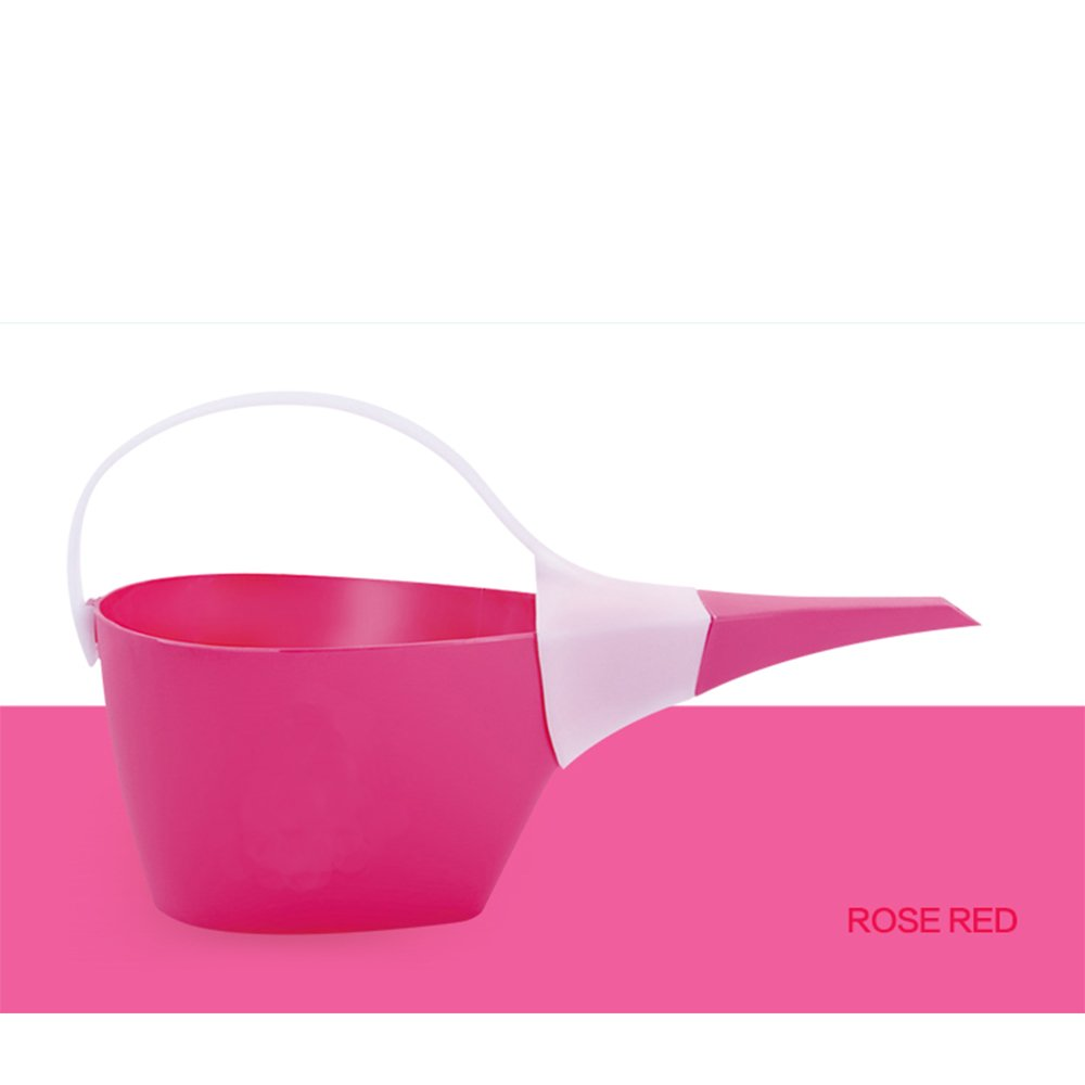 Calunce New fashion plastic portable watering pot,1.2L watering can,Lightweight watering can,Rosse Red