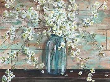 Amazon.com: Blossoms in Mason Jar by Tre Sorelle Studios - 18