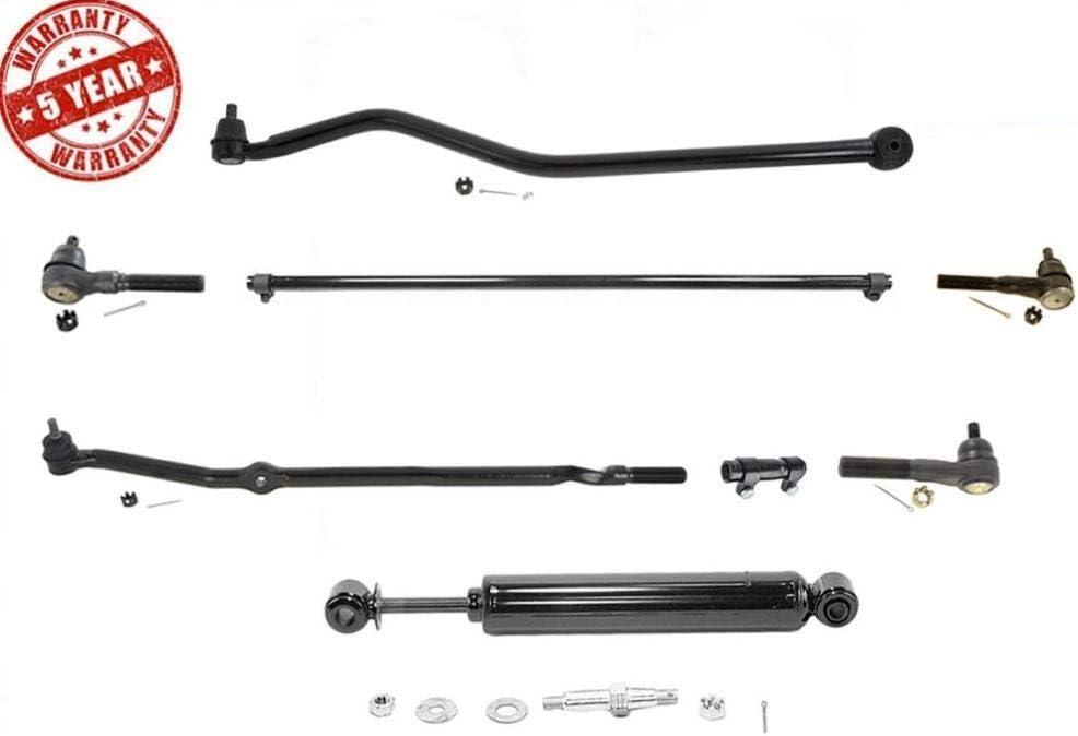 Fits 1997-2006 Jeep Wrangler Drag Link Tie Rods Track Bar Steering Stabilizer