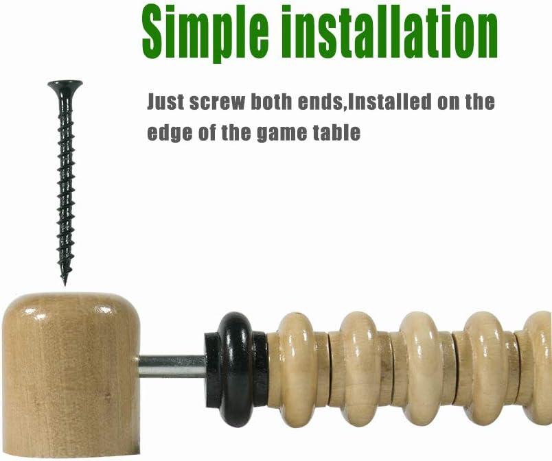 Golden field Shuffleboard Score Keeper,Classic Wooden Bead Score System,Used with Shuffleboard Table