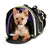 K&H Pet Products Comfy Go Pet Carrier Purple/Black/Lime Green X-Large 21'' x 12'' x 12.5''