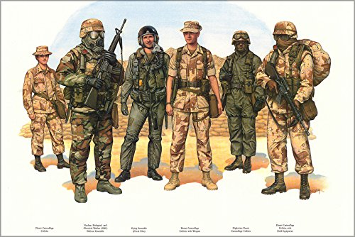 16x24 Poster; Operation Desert Storm Uniforms