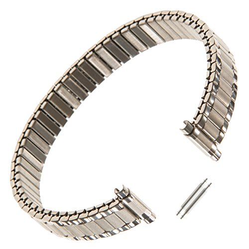 Watch Mm 10 Band (Gilden Ladies Expansion 9-13mm Extra-Long Stainless Steel Watch Band 124-SL)