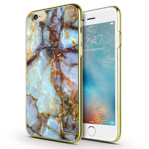 iPhone 6s Plus Case, Marble iPhone 6 Plus Case, MOSNOVO Cool Marble Printing Design Chrome Gold Hard Case for iPhone 6 Plus 5.5 Inch