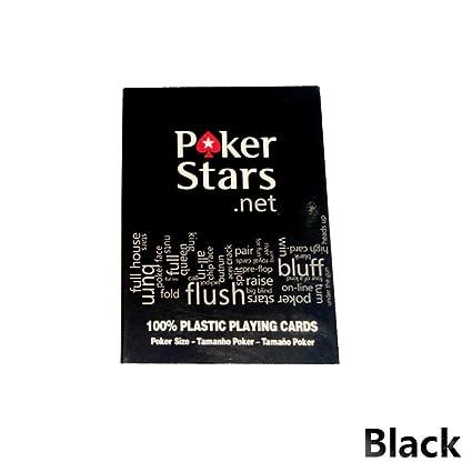 Waroomss Naipes de plástico, juego Texas Holdem Poker Cards ...