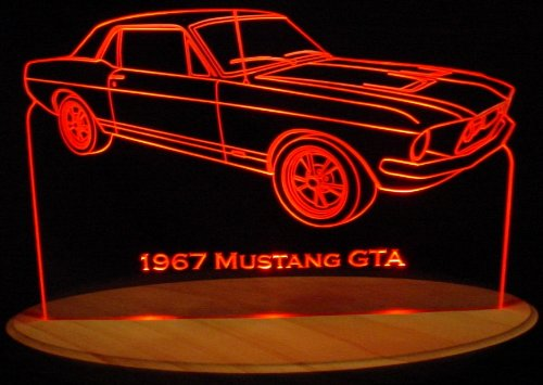 1967 Mustang GTA Acrylic Lighted Edge Lit 13