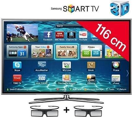 SAMSUNG Televisor LED 3D Smart TV UE46ES6800: Amazon.es: Electrónica
