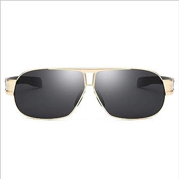 MOOMDDY Gafas De Sol Polarizadas Metal Clásico Cuadrado ...