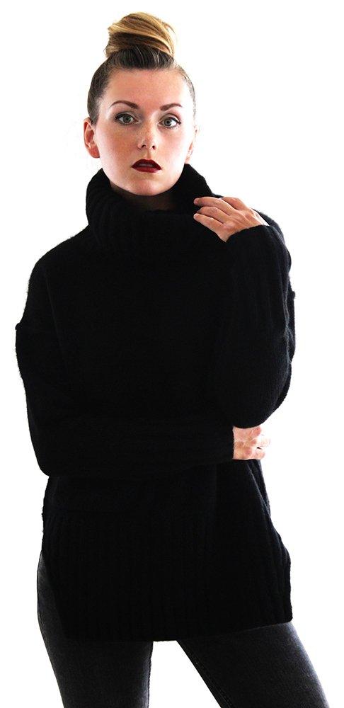 Ribbed Turtleneck - 100% Yak Wool - Citizen Cashmere (XL, Black) 41 144Y-02-04