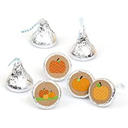 Pumpkin Patch - Fall & Halloween Round Candy Sticker Favors - Labels Fit Hershey's Kisses (1 sheet of 108)