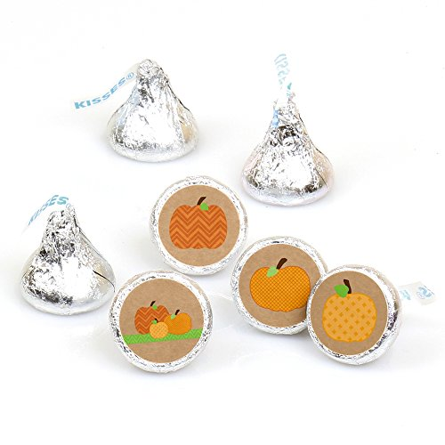 Pumpkin Patch - Fall & Thanksgiving Round Candy Sticker Favors - Labels Fit Hershey's Kisses (1 sheet of 108)