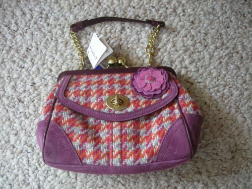 Coach Houndstooth Snap Frame Purse, - Bag Frame B4