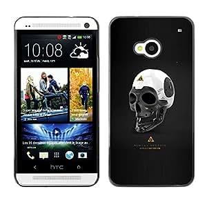 KLONGSHOP // Cubierta de piel con cierre a presión Shell trasero duro de goma Protección Caso - Casi Android - HTC One M7 //