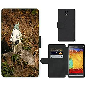 PU LEATHER case coque housse smartphone Flip bag Cover protection // M00114463 Gato camuflaje Enano Imp Piel // Samsung Galaxy Note 3 III N9000 N9002 N9005