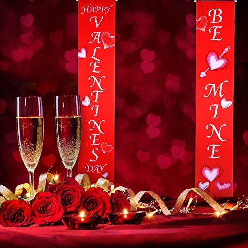 Blulu Valentine Decoration Set Valentines Day House Flag