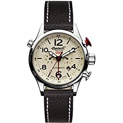 Ingersoll Men's IN3218CR Lawrence Stainless Steel Watch with Black Band