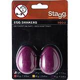 Stagg EGG-2 MG Plastic Egg Shaker Pair, Magenta