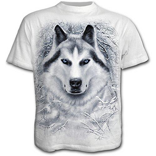 Spiral White Wolf T - Shirt - Unisex, weiß