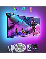 Govee TV LED Backlight, 3m LED Lights for TV with Bluetooth App and Remote Control, Music Sync, DIY and Scene Modes, RGB Color Changing TV Backlight for 46-60 inch TVs, Computer, USB Powered