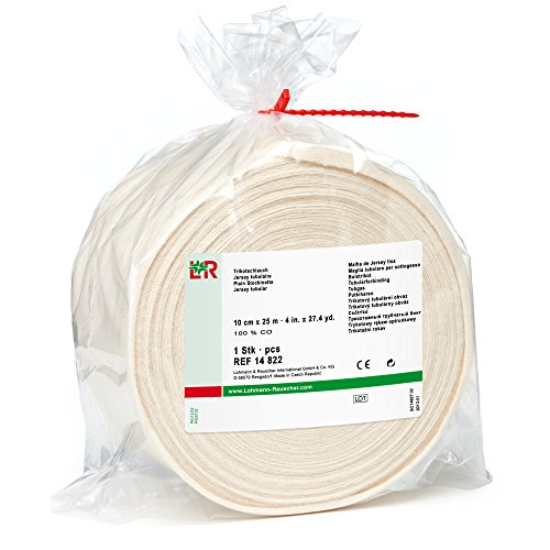 - tg Cotton Stockinette, 100% Cotton Tubular Bandage for Protection Under Casts, 10 cm x 25 m Roll