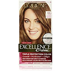 L'Oreal Paris Excellence Creme, 6G Light Golden Brown, (Packaging May Vary)