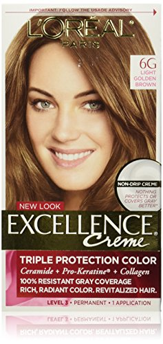 L'Oréal Paris Excellence Créme Permanent Hair Color, 6G Li