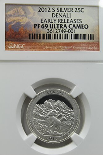 2012 S Silver 25C Denali Early Releases Ultra Cameo Quarter PF-69 NGC